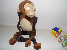Chimpanzee Harness buddy Goldbug Animal 2 in 1 Harnesses Plush Toy Backpack Baby Harness Baby Walker