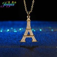 Ali Moda-collar con colgante de la Torre Eiffel, Micro pavé de circón flotante, para el Día de Acción de Gracias, regalo de Navidad