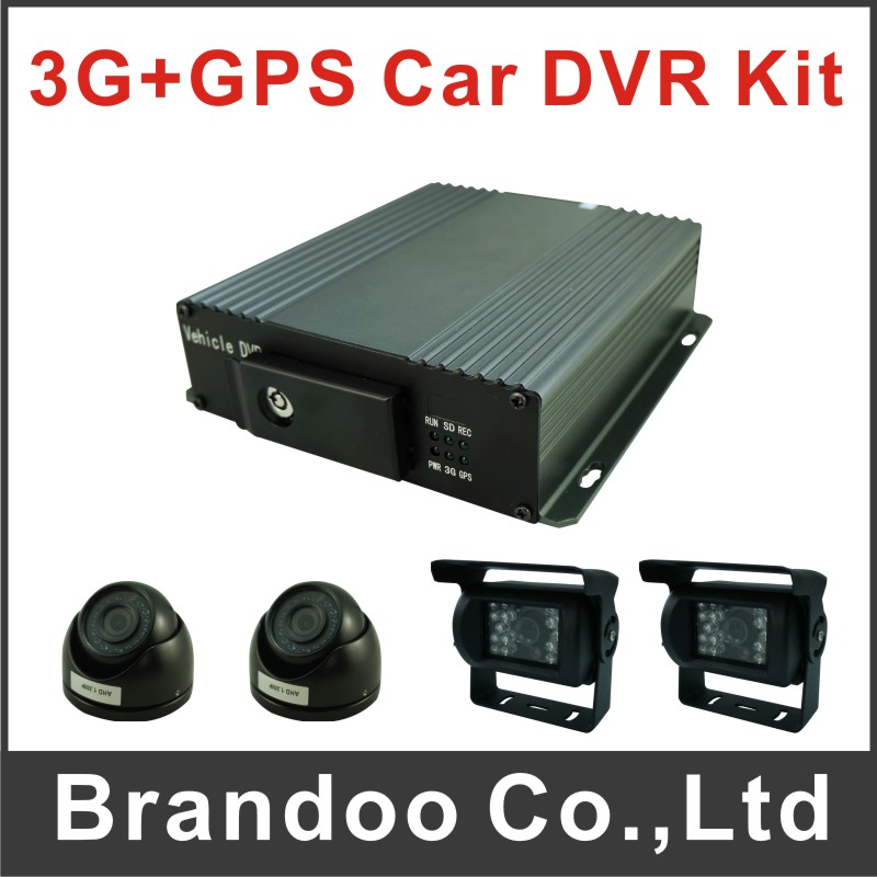 Cheapest 3G CAR DVR with AHD Car Cameras for bus/taxi security sold by Brandoo, we offer CMS client for free