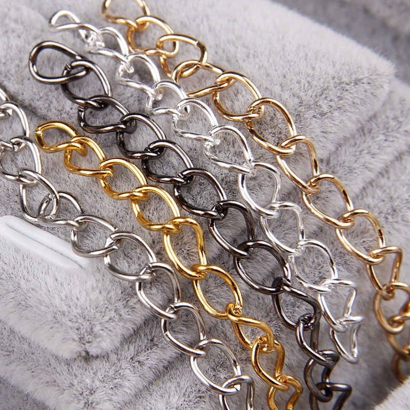 50pcs 0.7x3.6x5mm Necklace Chains Bulk For Jewelry Making Diy Gold/Silver Color Metal Iron Open Link Chain Fit Necklace,Bag 5 meters 2 3mm 3 4mm metal necklace chains bulk fit bracelets necklace chain silver color link chain for diy jewelry making z821