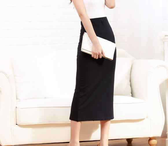 c4988a9f05 ... Customize woman Long Pencil Skirt Back Slit Ladies Maxi White/Khaki/Red/ Blue ...