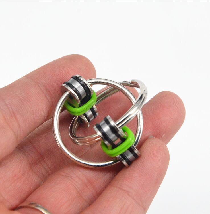 1pcs Key Ring Hand Spinner Fidget Cube High Speed Rotation Toys