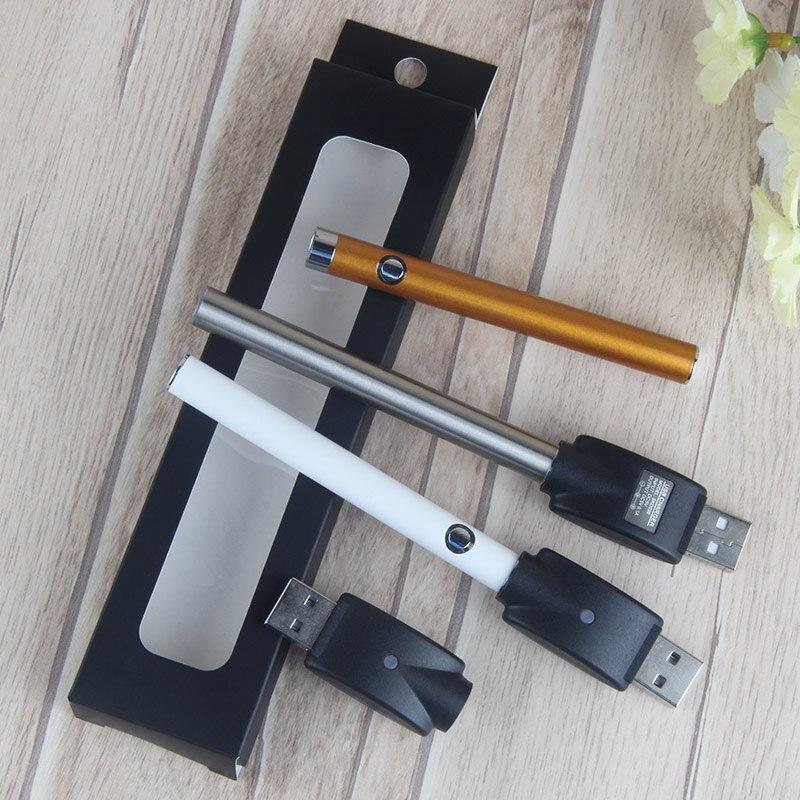 50PCSCE3 Hot colorful rechargable button 510 oil vaporizer E- Cigarette battery 280mah e cig vape o pen batterywith ce3 atomizer