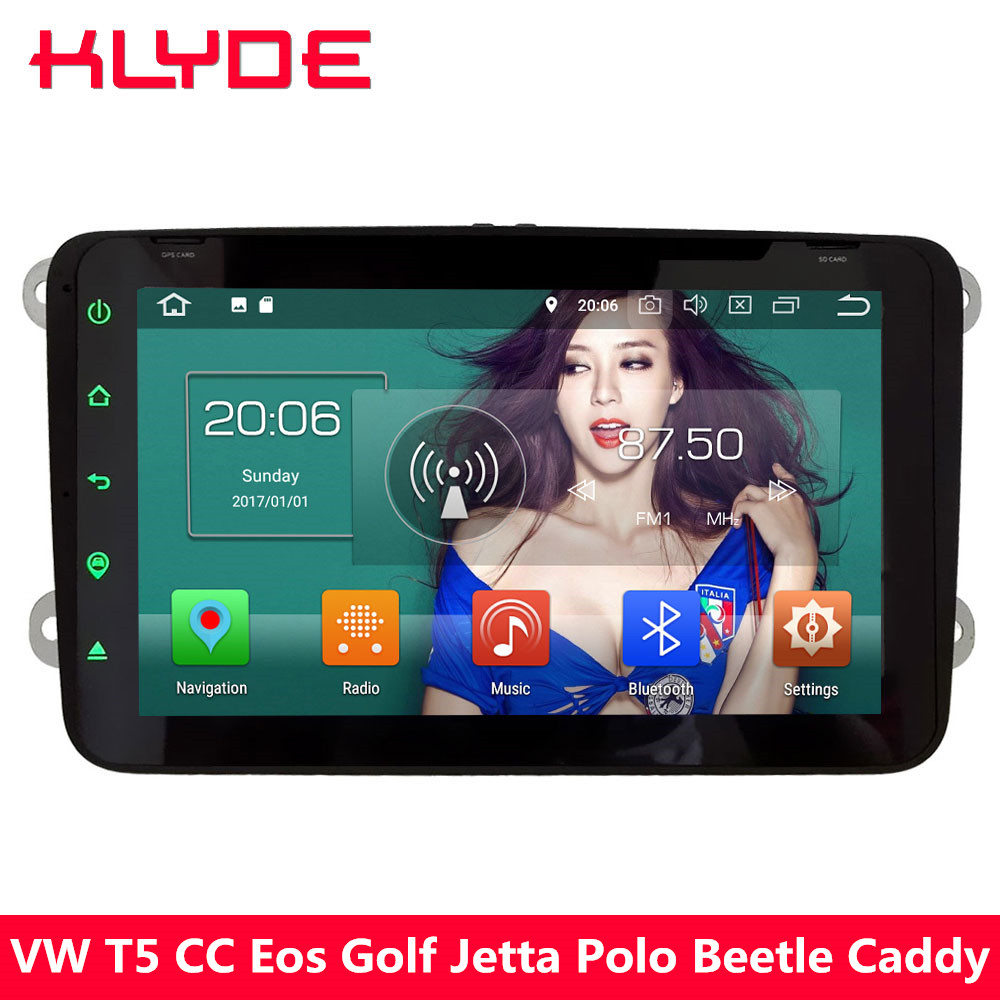KLYDE 4G Android 8 Octa Core 4GB RAM 32GB ROM Car DVD Player Radio For Volkswagen