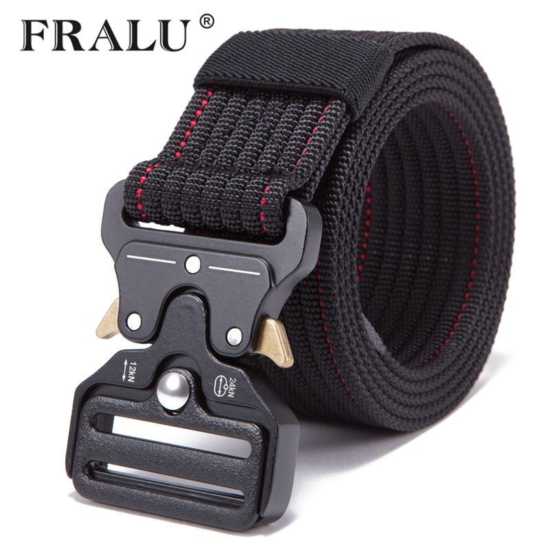 FRALU 2018New Mens Tactical   Belt   Military Nylon   Belt   Outdoor multifunctional Training   Belt   Combat   Belts   Sturdy Waistban
