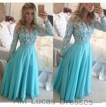 Luxus Abendkleider Mit Langen Ärmeln 2016 Vestido De Festa Prinzessin Stil Formale Abendkleider Prom Kleider Plus Größe