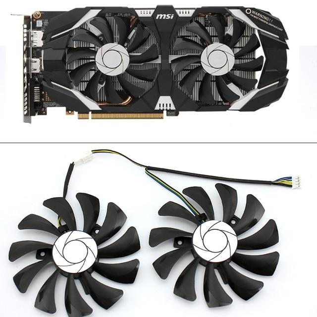 New 85MM HA9010H12F Z 4Pin Cooler Fan Replacement For MSI GTX 1060 OC 6G GTX 960 P106 100 P106 GTX1060 Graphics Card Fan