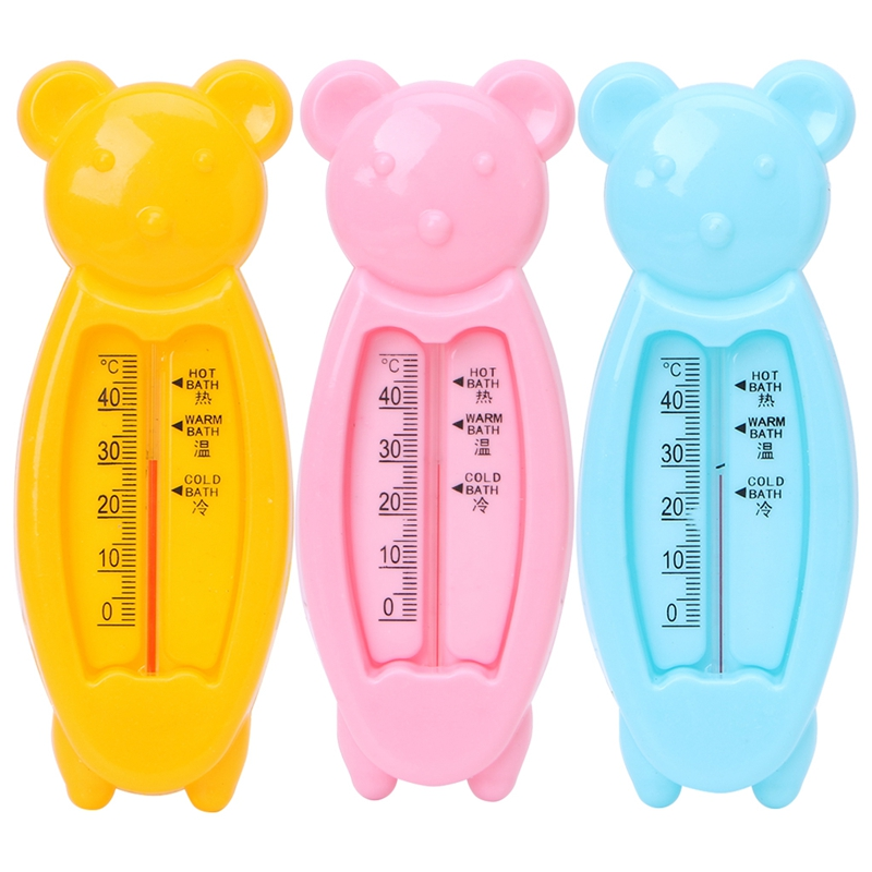 Floating Lovely Bear Baby Water Thermometer Float Baby Plastic Bath Toy Thermometer Tub Water Sensor Thermometer Random delivery