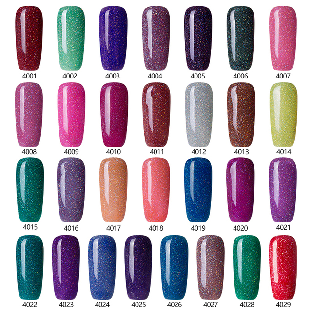 2017 Fashion Neon Nail Gel Polish Soak Off UV Colorful Nail Colors