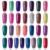 Modelones 2017 Mode Néon Nail Gel Polish Soak Off UV Ongles Coloré Couleurs Art Pour gel nail polish Long-durable Gel