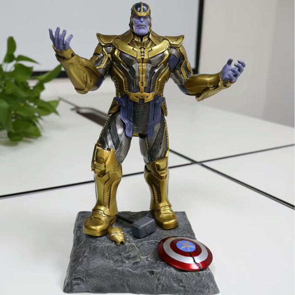 The Avengers : Infinity War 16'' Thanos Statue Resin Action Figure Model Toy Gifts [funny] hot infinity gauntlet thanos gem gloves model avengers infinity war action figure toy resin decoration collection model