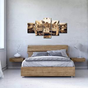 5 шт. большой холст стены искусства самолет интерьер кокпит вид живопись галерея Винтаж постер с самолетом для гостиной
