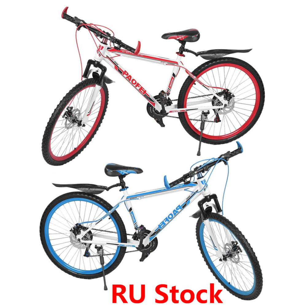RU Stock 26 Inch X17 Inch Front And Rear Disc Bike 30 Circle Mountain Bike Variable Speed MTB Road Racing Bicycle Free Shipping wheel up bicycle rear seat trunk bag full waterproof big capacity 27l mtb road bike rear bag tail seat panniers cycling touring