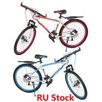 RU Stock 26 Inch X17 Inch Front And Rear Disc Bike 30 Circle Mountain Bike Variable Speed MTB Road Racing Bicycle Free Shipping