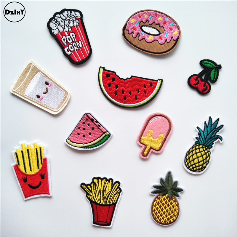 1 PCS ice cream parches Embroidered Iron on Patches for