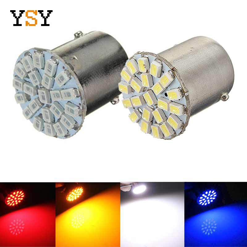 400pcs Strobe S25 P21 5W BAY15D 1157 3014 22SMD Car LED For Tail Side Lights Parking