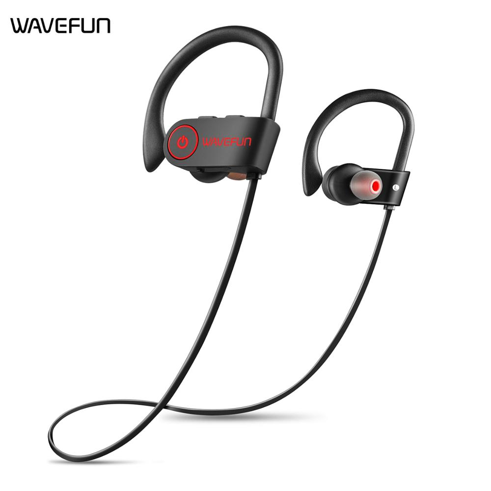 US $13 99 72% OFF|Wavefun X Buds Bluetooth 5 0 Earphone IPX7 waterproof AAC  wireless Headphones sports earbuds with mic for iPhone xiaomi Huawei-in