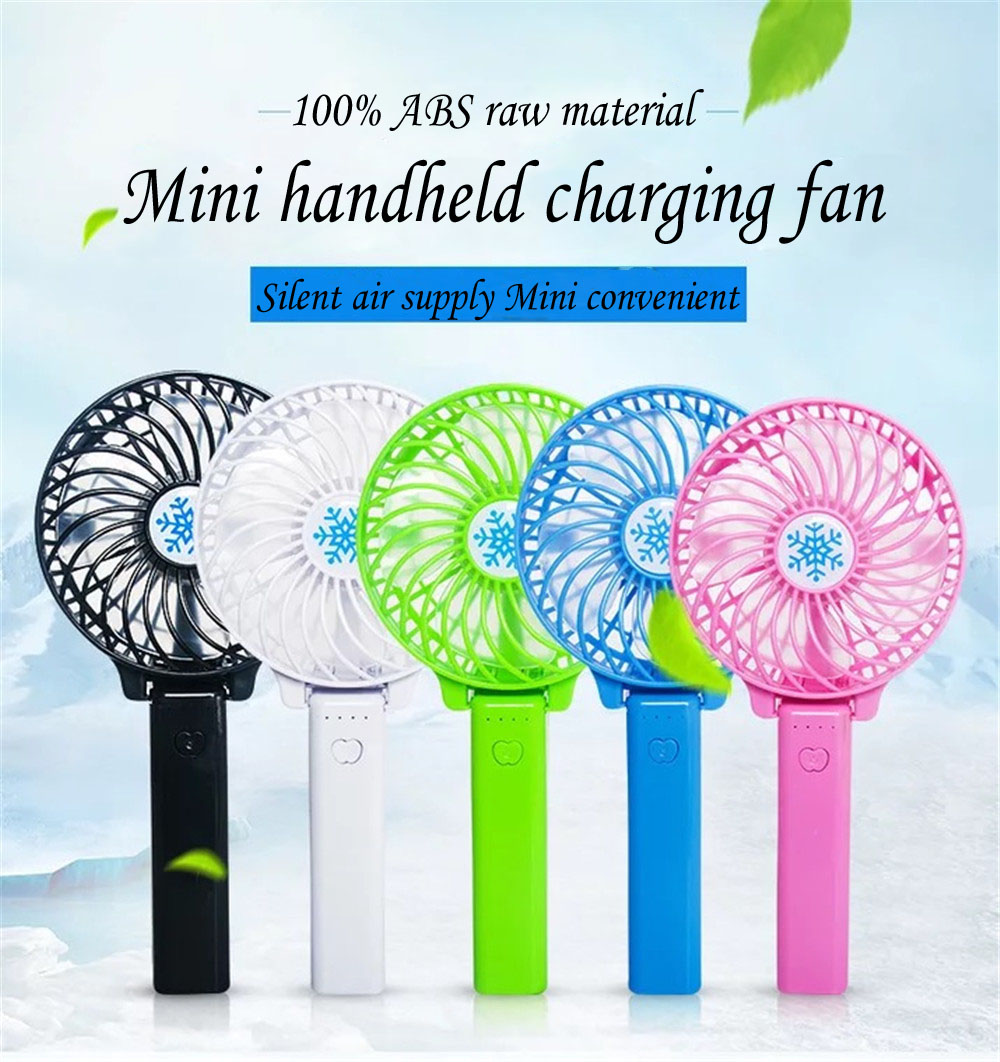 Mini USB Fan Portable Hand Fan with LED night light Battery Operated USB Power Handheld Fan Cooler Electric Lap top Fan for home mini usb fan portable handhold fan with rechargeable built in battery usb port design handy mini fan for smart home