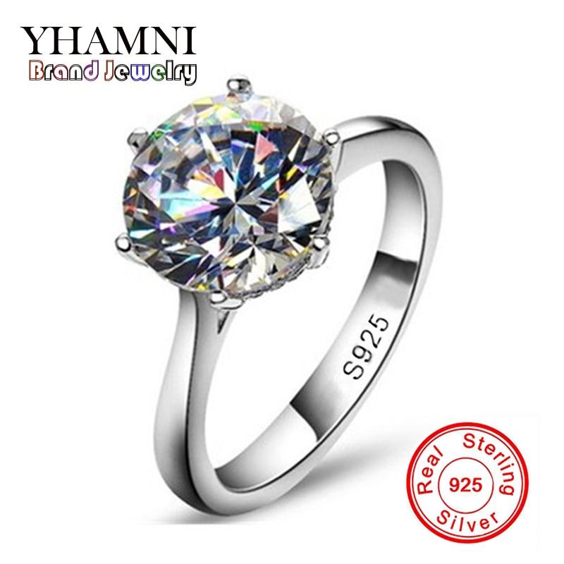 Perdere Soldi 90% OFF! lusso 2 carat simulato diamant anelli per le donne sterling silver anelli di fidanzamento sona diamant anello di nozze
