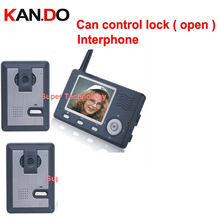 can control lock (door),3 wall to work,wireless Video Door Phone,3.5″LCD,wireless video doorbell,video intercom system