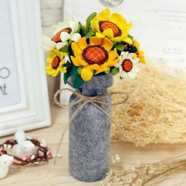 Sunflower Bouquets Handmade Felt Flower For Living Room Bedroom Home ...