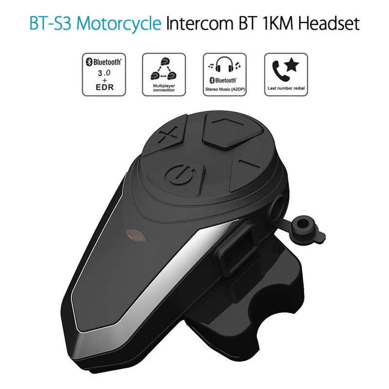 Interphone BT-s3 Intercomunicadores de Casco Moto Interfono Casco Bluetooth Capacete Moto Interphone casque Interphone Ejeas