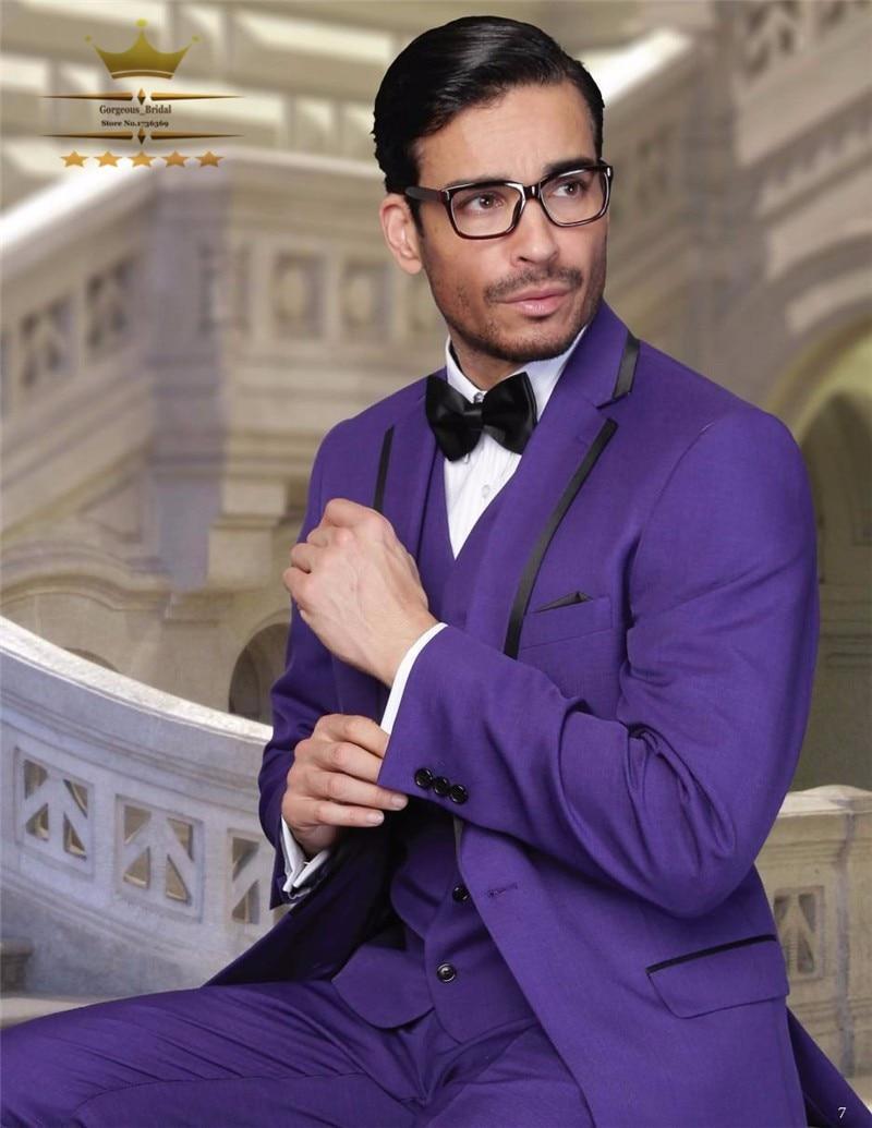 Aliexpress.com : Buy Custom Made Purple Groom Blazer Tuxedos ...