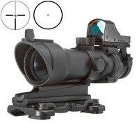Цель Acog 4X32 область с QD крепление и мини Красный точка зрения Снайпер прицел Охота Стрельба винтовка пистолет область AO5316