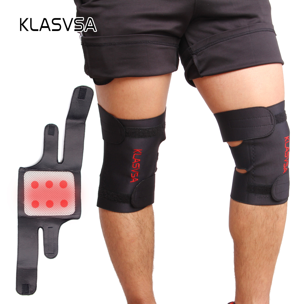 Adjustable Tourmaline Magnetic Self-Heating Knee Pads With Tourmaline Products Therapy Knee Support Brace Ceinture Massager 1pair tourmaline self heating knee leggings brace support magnetic therapy knee pads adjustable knee massager health care
