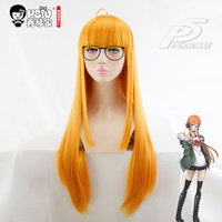 HSIU NEW High Quality Futaba Sakura Cosplay Wig Persona5 Costume Play Wigs Halloween Costumes Hair Free