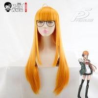 HSIU NEW High Quality Futaba Sakura Cosplay Wig Persona5 Costume Play Wigs Halloween Costumes Hair Free