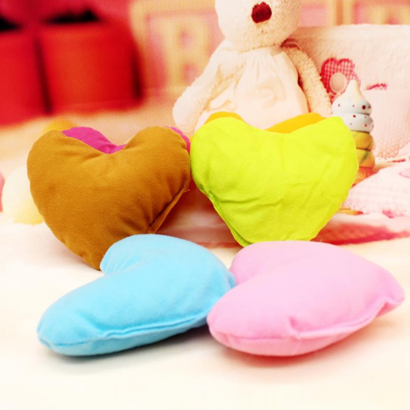 Us 157 24 Offpet Red Heart Shaped Cushion Soft Love Friend Gift Present Small Pillow House Cotton Lovely Pet Supplies In Cat Beds Mats From Home