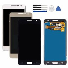 100% Test A3 2015 LCD Brightness Adjust for Samsung Galaxy A3 2015 A300 LCD Display A300H A300F LCD Screen Digitizer Dispaly Ass цена