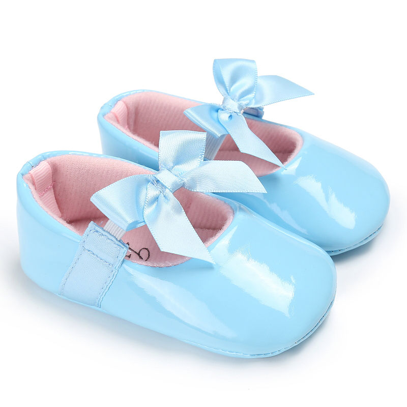WONBO-Newborn-Baby-Girls-Princess-Shoes-Crib-Bebe-Infant-Toddler-Kids-First-Walkers-Patent-leather-Mary-Jane-Big-Bow-Solid-Shoe-3