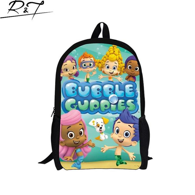 2016 moda niños bolsos de escuela de la muñeca de la burbuja guppies niñas, niños lindos bolsa de cartón mochila para niñas mochila mochila infantil