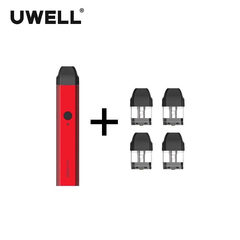 ¡En Stock! UWELL Caliburn portátil Kit de sistema y 1 paquete de 2 ml cartucho recargable-llenar Vape Pod del justfog minifit kit de - 5