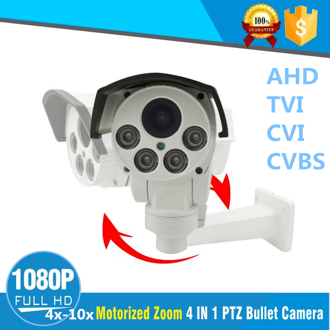 2MP AHD Bullet PTZ Camera 1080p Full HD Outdoor waterproof Night Vision IR Camera 4X 10X optical ZOOM Video Surveillance Camera image