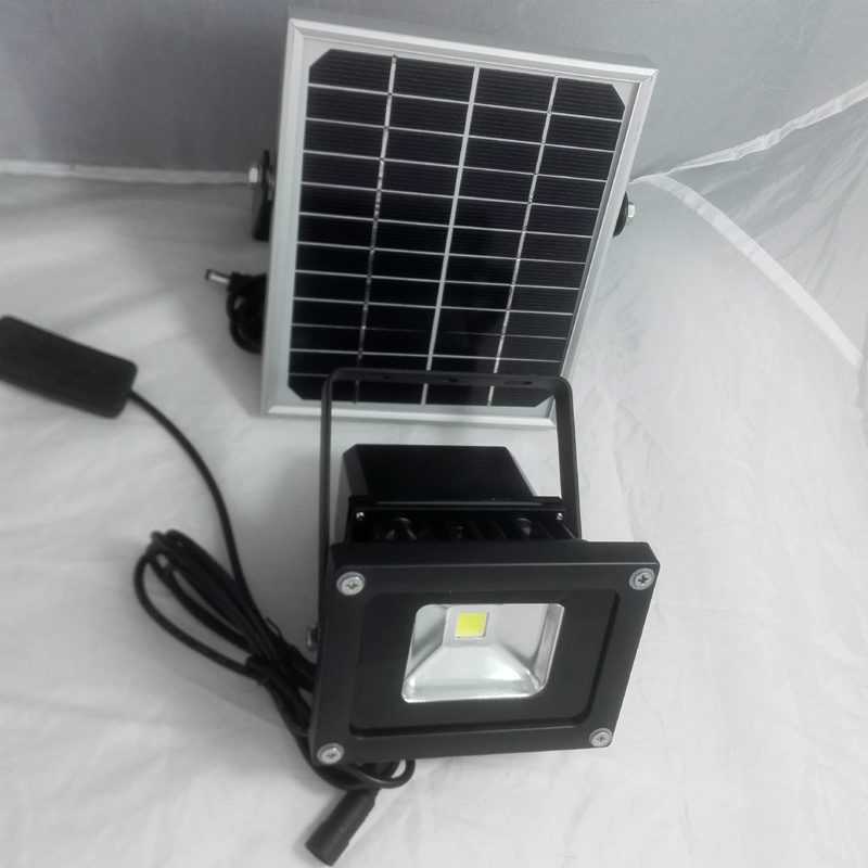 10W solar light with 2M cords switch camping light with switch dimming 4 12hours IP65 solar