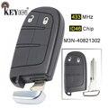 KEYECU 433 МГц ID46 чип M3N-408213 Замена 2 кнопки дистанционный смарт ключ-брелок для Chrysler 300  для Jeep  для Dodge  для Fiat 500