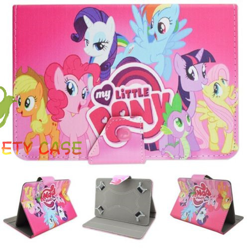 "Lovely Little Pony Mon Petit Poney Universal 7"" Leather Case Cover for Asus FonePad 7 FE170CG FE170 TF170 K012 7 Inch Tablet"