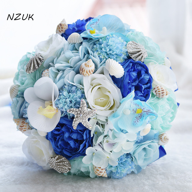 2018 white tea rose artificial flowers bridal bouquet fake flowers ...