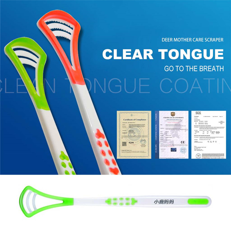 1pcs Tongue Cleaner Scraper Brush Soft Oral Health Bad Breath Remove Tool for Oral Care tongue scraper eco friendly products