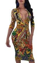 Női Plusz méret Mély V nyakú rövid ujjú köntös Bodycon Party Midi ruha