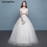 Vestidos De Novia 2017 Plus Size Wedding Dress Lace White Cap Sleeves Ball Gown Floor Length