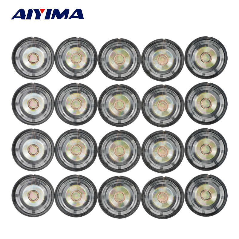 AIYIMA 20Pcs Mini Audio Portable Speakers 0.25W 8 Ohm Speaker External Magnetic Speaker 21/27/29mm DIY For Toys