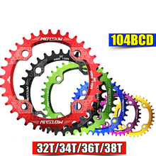 32T/34T/36T/38T 104BCD MTB Bicycle Chainring for Crankset Round Cycle Chainwheel 7075-T6 MTB Bike Circle Crankset Plate mtb mountain bike bicycle 7075 aluminium crankset disc chainwheel tooth slice bcd96 32t 34t 36t round oval chain wheel