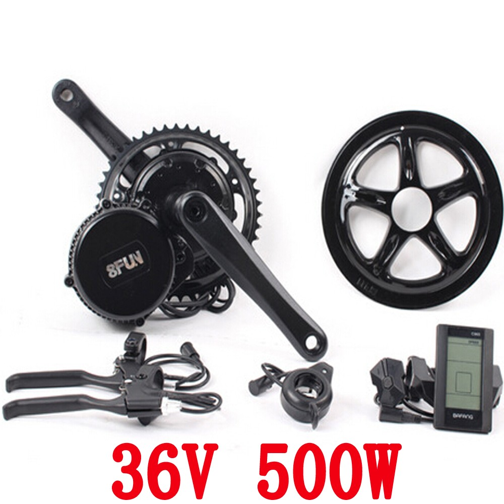 36v 500w 8fun/bafang C961 motor BBS02 crank Motor eletric bicycles trike ebike kits