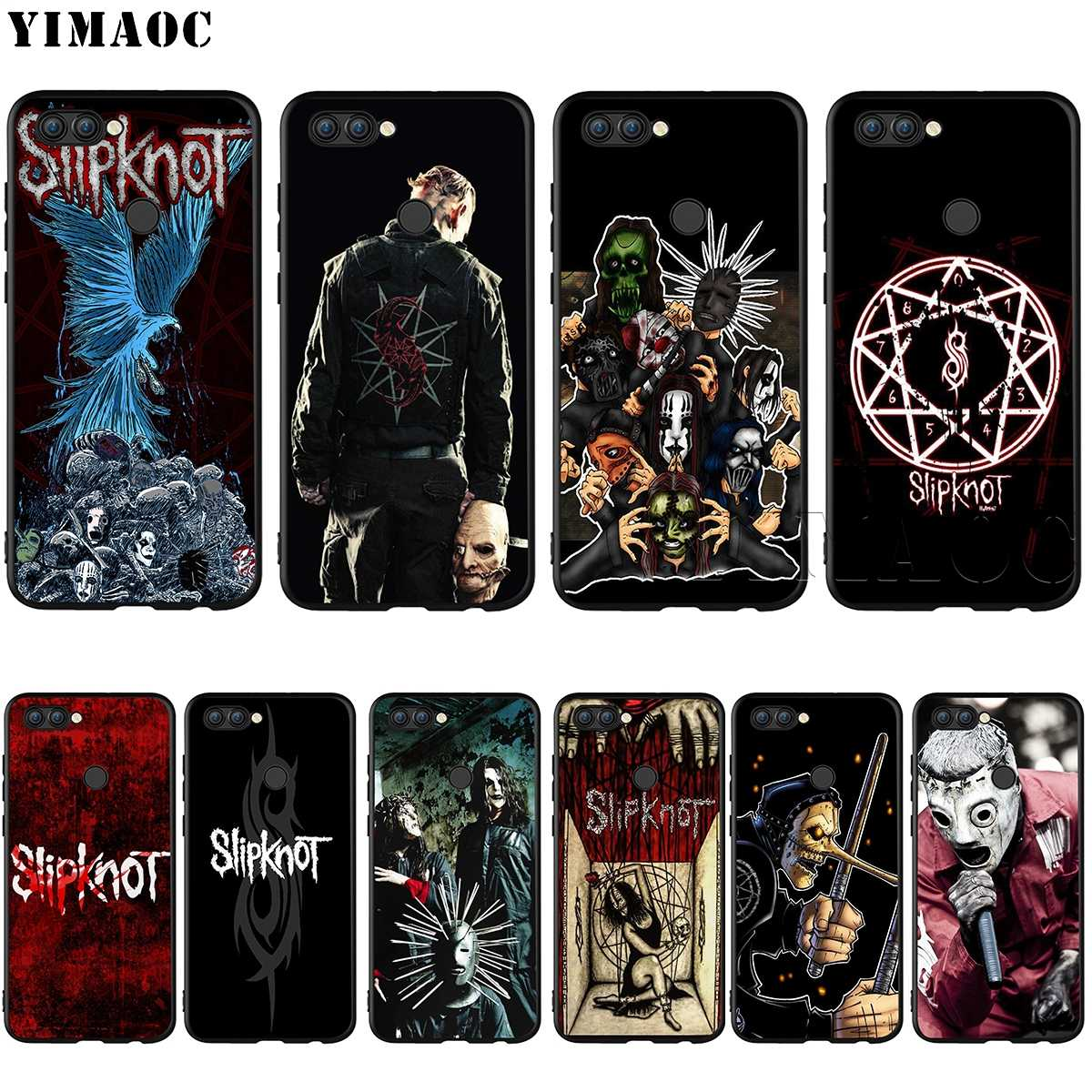 YIMAOC Slipknot Clown Corey Taylor Case for Huawei Mate 20 Honor 6a Y7 7a 7c 7x 8c 8x 9 10 Nova 3i 3 Lite Pro Y6 P30 P smart