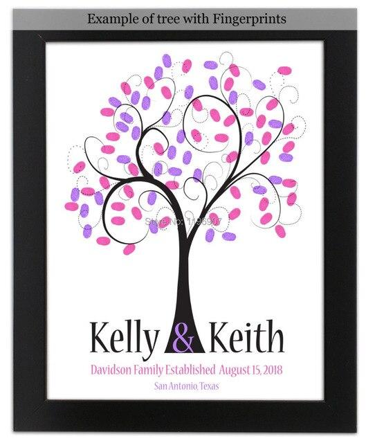 30 42 Cm Fingerprint Tree Wedding Guest Book Children Party Birthday Celebration Alternative Guestbook