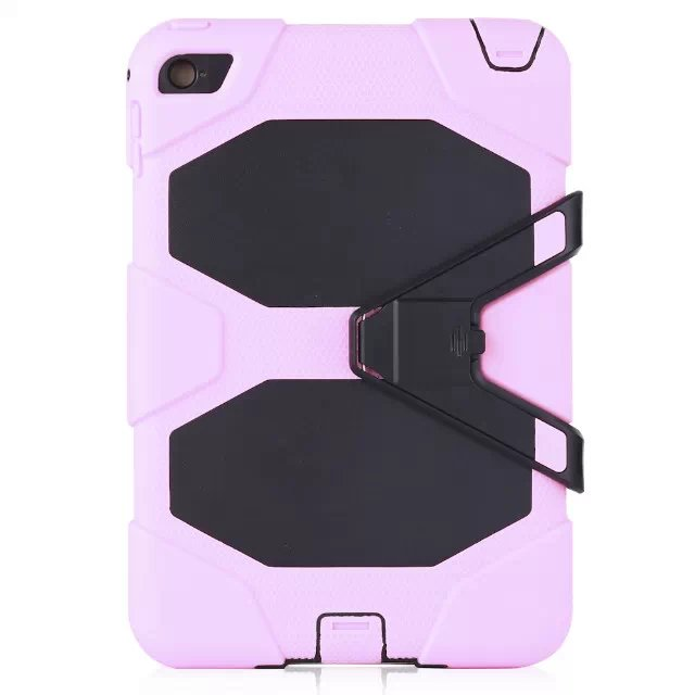 For iPad Mini 4 Case Silicone Hybrid Protector Military Heavy Duty Shockproof Stand Hang Tablet Cover For iPad mini 4 7.9 inch mini 4 heavy duty shockproof case hybrid silicone plastic back cover for ipad mini 4 tablet stand cover 7 9 for ipad mini 4